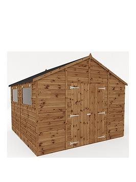 mercia-10x10-premium-pressure-treated-shiplap-workshop-shed-with-double-doors-and-installation