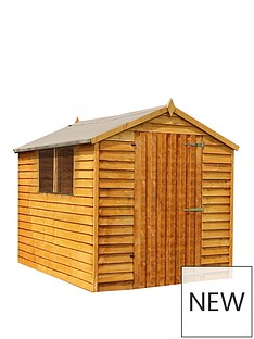mercia-8x6-value-overlap-dip-treated-apex-shed-with-installation