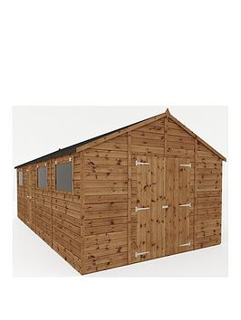mercia-20-xnbsp10-ftnbsppremium-pressure-treated-shiplap-workshop-shed-with-double-doors