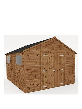 mercia-12x10-premium-pressure-treated-shiplap-workshop-shed-with-double-doors