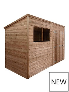 mercia-10x6-feet-traditional-pressure-treated-shiplap-pent-shed-with-installation