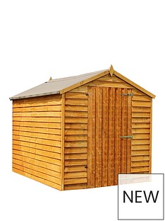 mercia-8x6-value-overlap-dip-treated-apex-windowless-shed-with-installation