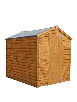 mercia-7x5-value-overlap-dip-treated-windowless-apex-shed-with-installation