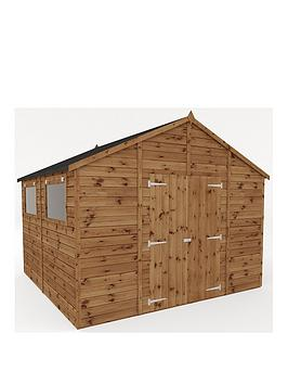 mercia-10-xnbsp10-ftnbsppremium-pressure-treated-shiplap-workshop-shed-with-double-doors