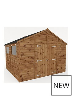 mercia-10x10-premium-pressure-treated-shiplap-workshop-shed-with-double-doors