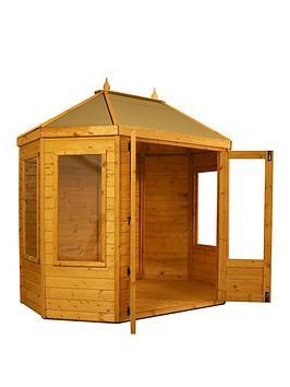 mercia-8x6-shiplap-dip-treated-octagonal-summerhouse-with-installation