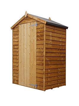 mercia-3x4-value-overlap-dip-treated-windowless-apex-shed-with-installation
