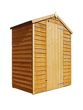mercia-3x5-value-overlap-dip-treated-windowless-apex-shed-with-installation
