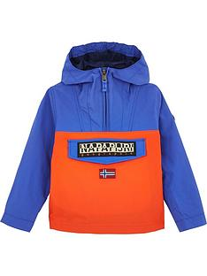 napapijri-boys-rainforest-colourblock-over-the-head-jacket--nbspblueorange