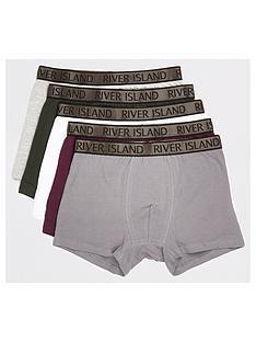 river-island-metallic-waistband-trunks-5-pack-khakinbsp