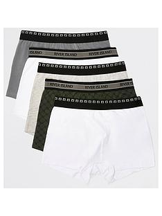 river-island-rinbspmonogram-trunks-5-pack-khakinbsp
