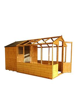 mercia-12x6-shiplap-dip-treated-combi-shed-greenhouse-with-installation