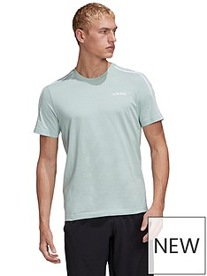 adidas-essential-3-stripe-t-shirt-green