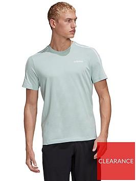 adidas-essential-3-stripe-t-shirt-green
