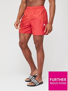 adidas-solid-clx-shorts-red
