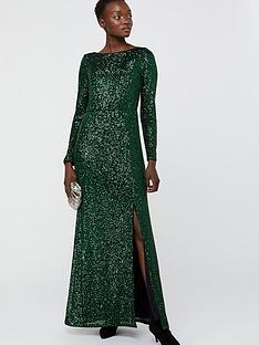 monsoon-jaidynn-sequin-long-sleeve-maxi-dress-green