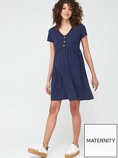 mama-licious-maternity-short-sleeve-jersey-t-shirt-dress-navy