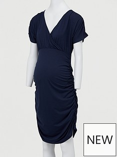 mama-licious-maternity-cap-sleeved-woven-dress