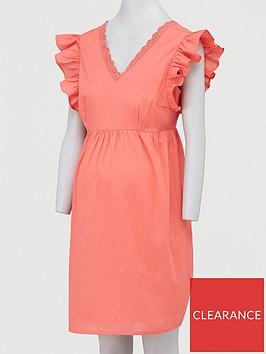 mama-licious-maternity-cap-sleeved-wovennbspdress-navy