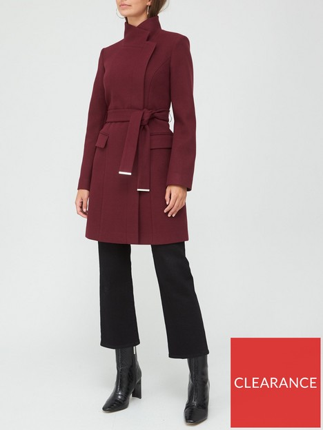 v-by-very-funnel-neck-coat-plum