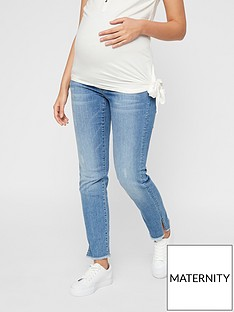 mama-licious-maternity-straight-leg-cropped-jeans-light-blue