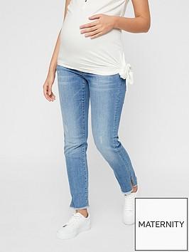 mama-licious-maternity-straight-leg-cropped-jeans-light-blue