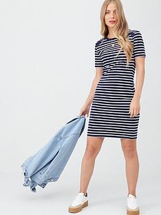 superdry-eden-lace-mix-dress-navy-stripe