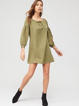 superdry-arizona-peek-a-boo-dress-olive