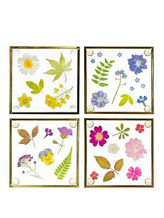 sass-belle-pressed-flowers-glass-coasters-ndash-set-of-4