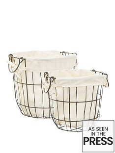 sass-belle-set-of-2-round-wire-storage-baskets-with-lining