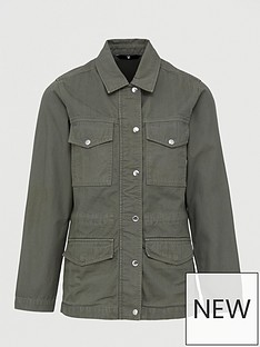 v-by-very-herringbone-utility-jacket-khaki