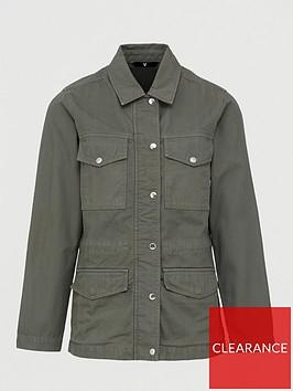 v-by-very-herringbone-utility-jacket-khaki
