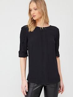 oasis-drape-sleeve-top-black