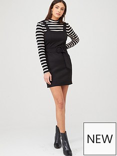 v-by-very-faux-suede-pinafore-dress-black