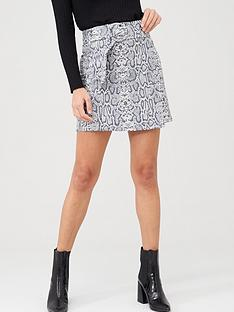v-by-very-faux-suede-mini-skirt-snake