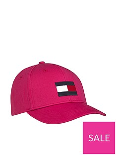 tommy-hilfiger-girls-large-flag-cap-pink