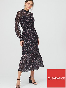 v-by-very-printed-mesh-ruched-waist-midi-dress-floral