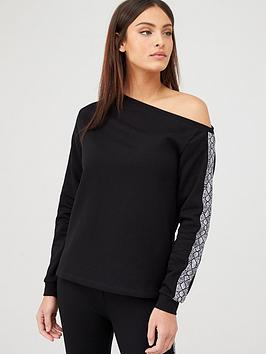 v-by-very-snake-slouch-co-ord-top-black