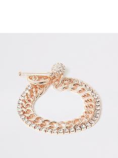 river-island-chain-t-bar-bracelet-gold