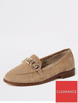 river-island-river-island-studded-edge-snaffle-detail-loafer-cream
