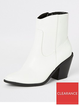 river-island-western-stitch-ankle-boot-white