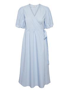 gestuz-bibi-wrap-dress-blue