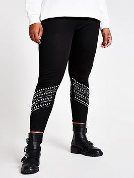 ri-plus-pearl-hem-legging-black