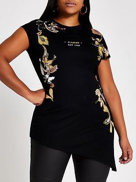 ri-plus-ri-plus-placement-print-asymmetric-top-black