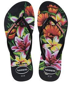 havaianas-slim-floral-flip-flop-sandals-black
