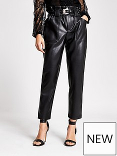 ri-petite-ri-petite-pu-western-belt-peg-trouser--black