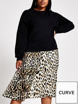 ri-plus-woven-mix-sweater-dress--nbspblack