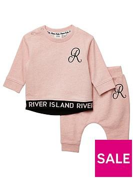 river-island-baby-girls-monogram-sweat-set-pink