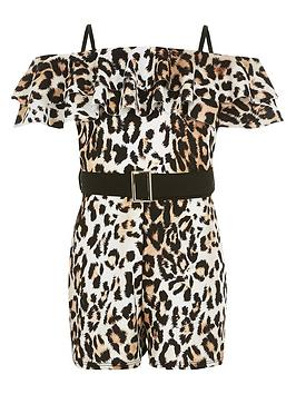 river-island-girls-leapord-print-belted-playsuit-brown