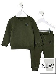 river-island-mini-boys-rvr-sweatshirt-and-jog-pants-khaki